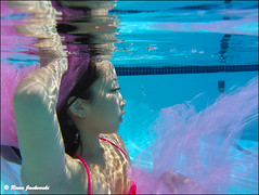 (Renee Rocket) Tags: pink blue reflections underwaterphotography reneerocketphotography