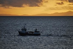 Fishing Boat on The Minch, Neist Point, Isle of Skye, Scotland (Peter (Fernilea Photography)) Tags: sunset lighthouse seascape sunrise scotland isleofskye fishingboat cuillins cuillin carbost glenbrittle portnalong sgurrnangillean neistpoint minginish waterstein fernilea skyebridgesligachan