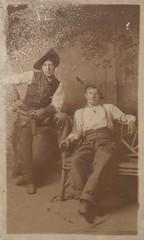 Dos Hombres (hoosiermarine) Tags: hat leather belt cowboy boots hats western vest suspenders cowboyhat chaps cuffs holster cartridge westernwear kerchief