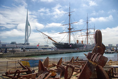 Spinnaker Tower & HMS Warrior 1860 (Alan-S2011) Tags: sea seascape nikon anchor portsmouth spinnakertower hmswarrior1860 d3100