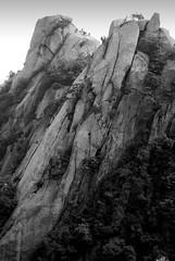The rock faces of Dobongsan, Mt Bukhansan National Park, Seoul, South Korea (Damon Tighe) Tags: park bw white black rock landscape climb asia mt south korea korean national granite climber dobongsan bekhansan