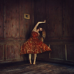 hiding in the dusty curtains (brookeshaden) Tags: selfportrait london abandoned surrealism oldhouse workshop derelict fineartphotography richcolors creativephotography fineartphotographer brookeshaden dustycurtains
