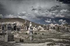 Au pays des songes éternels  *ON EXPLORE* (photofabulation) Tags: sky cemetery clouds landscape asia pentax graves ciel dreams asie nuages paysage k5 cimetière tombes songes kirghizistan