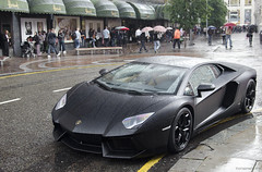 Wet, again. (tWm.) Tags: black london car nikon thomas super mein arab nikkor lamborghini nero supercar f4 matte nemesis qatar v12 444 24120 qatari d7000 aventador
