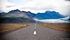 Road ICELAND (hunter of moments) Tags: road travel viaje blue light sky naturaleza white mountain color green art luz nature water azul clouds way landscape island luces islandia agua nikon camino natural natura paisaje cielo montaa glaciar isla cima d5000