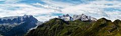 three towers large pano (diamir8000) Tags: sky panorama mountains rock clouds canon geotagged austria pano wide schruns berge vorarlberg golm threetowers sulzfluh rtikon tschagguns drusenfluh dreitrme canoneos7d