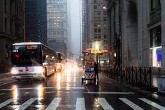 Halal cart in the rain, Broadway, Manhattain (Dan Nguyen @ New York City) Tags: nyc newyorkcity storm financialdistrict