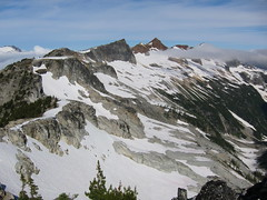 018 looking back at route from ridge top camp 3