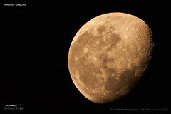 Red Gibbous (Natalia Robba) Tags: moon astrophotography nightshots lunar gibbous themoon waning nighttimeshots waninggibbous lowlightphotography lunarphotography