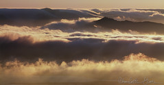 Fog Rolling In Over Angel Island, San Francisco Bay (Charlotte Hamilton Gibb) Tags: california sunset fog clouds landscape sanfranciscobay angelisland charlottegibbphotography