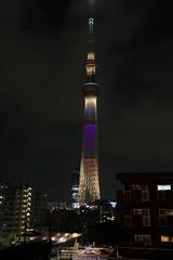 Tokyo Sky Tree special illumination (Purple) (Yuripere) Tags: light japan night tokyo nikon illumination japon d800 2020 afsnikkor2870mmf28d gettyimagesjapan12q3 olymipcgames gettyimagesjapan12q4