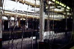 District Line (forayinto35mm) Tags: london film window rain train 35mm underground 50mm iso100 pentax kodak richmond londonunderground pentaxmesuper districtline c41 richmondstation kodakektar100 ektar100 raindownwindow