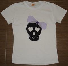 Caveira laço (Kaasf) Tags: artesanato artesanal patch patchwork camiseta customizada estilizada patchcolagem caamis patchapliqué patchapliqueé