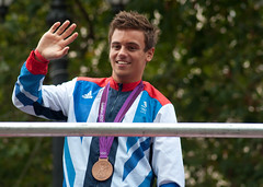 Tom Daley (MegMoggington) Tags: london bronze medal olympic athletes themall london2012 paralympic teamgb athletesparade tomdaley