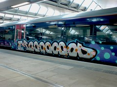 MOOD (piers mason) Tags: london train underground graffiti stencil montana tag tube tags writer blackfriars cans graff piece burner runner mop overground bombing dubs belton throwup fills chromes trackside tagger stainer fatcap tox ldn kobra throwie chromeandblack fuckbtp