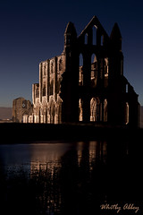 Whitby Abbey (mrcheeky2009) Tags: sunset reflection ruins northyorkshire whitbyabbey spooky500d