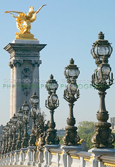 Pont Alexander III (cholmesphoto) Tags: travel bridge sky paris france building art lamp skyline architecture gold daylight streetlight europe skies cityscape arch architecturaldetail streetlamp structures nobody nopeople architectural artnouveau lamppost daytime alexander gilded pontalexandreiii arched artmovement artmovements