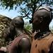 Detalhe no cabelo dos homens Himba