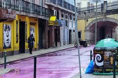 Casa Conveniente (SantiMB.Photos) Tags: street woman portugal rain geotagged calle lluvia mujer garbage lisboa basura stolen tamron 18200 prt robado kodakektachromemid1970 geo:lat=3870730397 geo:lon=914286196