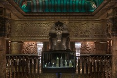 Ancient Harrods (ian_fromblighty) Tags: london shop sphinx bronze escalator harrods egyptian hdr 2012 qatar mohamedalfayed