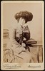 """""""Wife of Dad's friend Willie"""" with a very fine hat ca 1899 • <a style=""""font-size:0.8em;"""" href=""""http://www.flickr.com/photos/24469639@N00/8027697137/"""" target=""""_blank"""">View on Flickr</a>"""