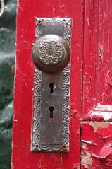2016_0720The-Old-Red-Door0003 (maineman152 (Lou)) Tags: found used restore giveaway salvage freestuff olddoor refinish olddoors tearingdown westpond recyclereuse buildingteardown useddoors