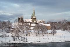Nidaros Cathedral (Helena Normark) Tags: nidarosdomen nidarosdome nidaroscathedral winter snow trondheim srtrndelag norway norge sonyalpha7 a7 voigtlnder cv5015 nokton5015 nokton50mmf15