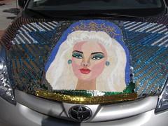 The almighty Barbiemobile! (electrofreeze) Tags: lavonnesallee barbie barbies doll dolls custom unique crazy fantasy horror erotic vallejo california ooakstreet barbiemobile toyota sienna artcar art car minivan