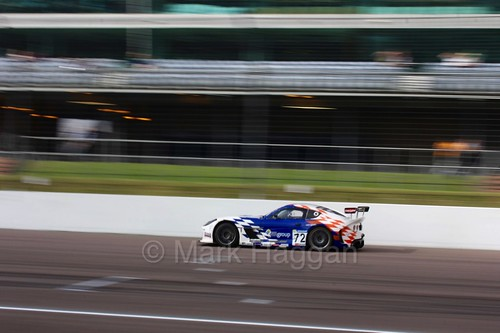 Mike Newbold in the Ginetta GT4 Supercup at Rockingham, August 2016