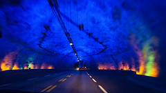 Lrdalstunnelen (KnutHSolberg) Tags: sognogfjordane norway lrdalstunnelen tunnel light blue e16 aurland lrdal caves bluelighting