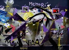 ( m e m o r i a ) todas las (b)alas se van a devolver. (Felipe Smides) Tags: mural collage chile felipesmides smides memoria wallmapu muralismo