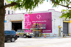 Qualcomm (Always Hand Paint) Tags: b195 qualcommphase1 kristalindahl qualcomm ooh outdoor colossalmedia alwayshandpaint skyhighmurals advertising colossal handpaint mural muraladvertising streetlevel pink neon colorful techelectronics telecom progress qualcommprogress