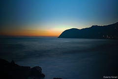 Sunset in Levanto (robiferra94) Tags: sky landscape sea sunset water nature travel night italy summer seascape italia sp liguria mare levanto cinque terre no person