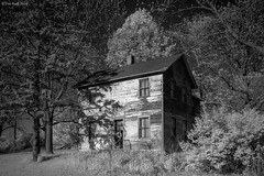 Of IR and Highway M (the real digibot) Tags: ir infrared house old trees barn farm decay