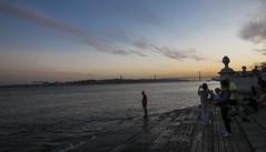 Sunset. (giacomo_celotto) Tags: sunset lisboa portogallo lisbona europe man praca do comercio summer trip travel holidays allaperto esplorazione explorating city nikon tokina grandangolo river