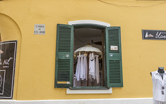 Window Shopping (nicklucas2) Tags: shop window menorca ciutadella yellow travel
