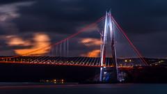 UMT_7735-2 (UmitCukurel) Tags: bridge turkey istanbul bosphorus sony nikon lightroom d750 sonyalpha bogazici kopru night poyrazkoy battleship gemi sky sunset dusk gunbatimi cloud