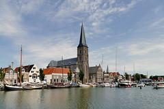 Harlingen  Kirche am Hafen (antje whv) Tags: harlingen hafen port kirche church huser houses boote boats sailingboat segelboote stadtansichten town holland