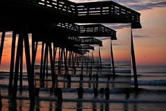 The Endless Sea (chantsign) Tags: dock ocean beach sunrise repeating waves horizon bluehour clouds sky