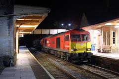 60007 6A11 Bradford on Avon 22/09/16. (Dan's Railway Gallery) Tags: class60 dbcargo murco petroleum tanks bradfordonavon night wilts