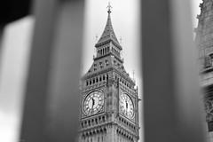 Large Benjamin 2 (Aaron Myszka) Tags: london england bigben tower clock landmark blackandwhite elizabeth