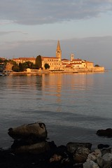 The early morning sun catches the old town of Porec. (Chris Firth of Wakey.) Tags: porec istria euphrasianbasilica