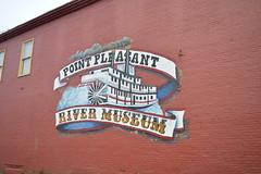 River Museum Point Pleasant, WV (steelerfan871) Tags: point pleasant wv westvirginia mural museum ohio river paddleboat sternwheel