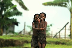 ~village life~ happy n excited (~~ASIF~~) Tags: canon60d outdoor portrait duel kids girls happy excited village life