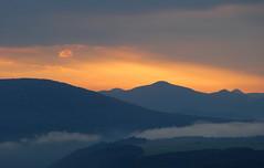 Zu den blauen Bergen.... (isajachevalier) Tags: elbsandsteingebirge schsischeschweiz landschaft natur sonnenaufgang sachsen lilienstein licht nebel panasonicdmcfz150