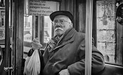 The introverted ( Wim ) Tags: wimgoedhart goedhartontwerp nikon blackwhite portrait portret lisbon lisboa senior glasses expression expressief porfavor nikkor introvert