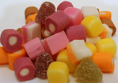 Dolly Mixtures (Crisp-13) Tags: sweet dolly mixture pink yellow orange purple