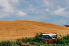 The Sad Tale Of The Lost Hippies (Pedalhead'71) Tags: steptoe washington abandoned van landscape wheat palouse