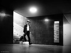 One big step (Ren Mollet) Tags: man mainstation aarau street streetphotography step bahnhof underground unterfhrung renmollet penf olympus zuiko indoor