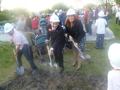 Joe Kaufman at the groundbreaking ceremony for Chabad of Parkland synagogue 1